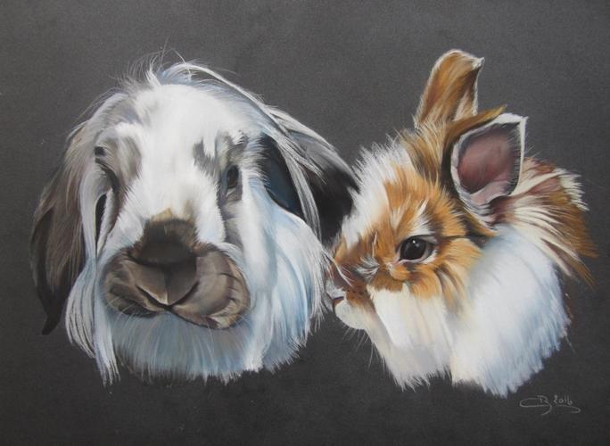 lapins aux pastels