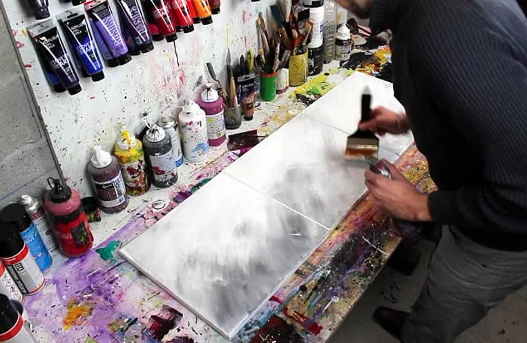 Comment Faire Une Peinture Abstraite Au Couteau