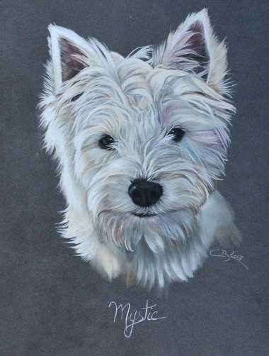 portrait westie pastel