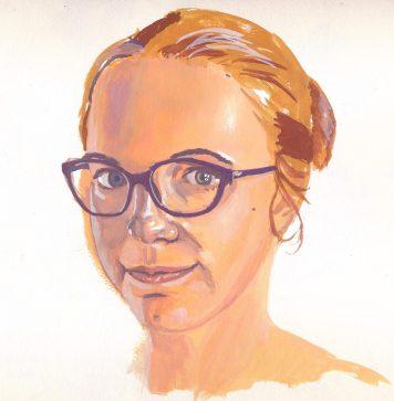 portrait gouache