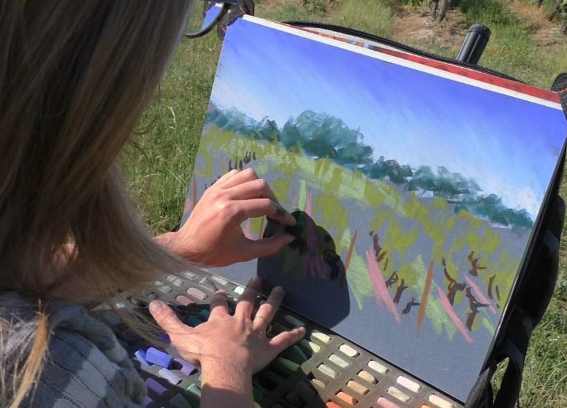 peindre au soleil