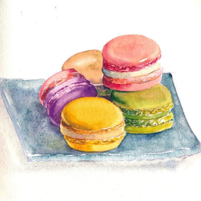 aquarelle macarons