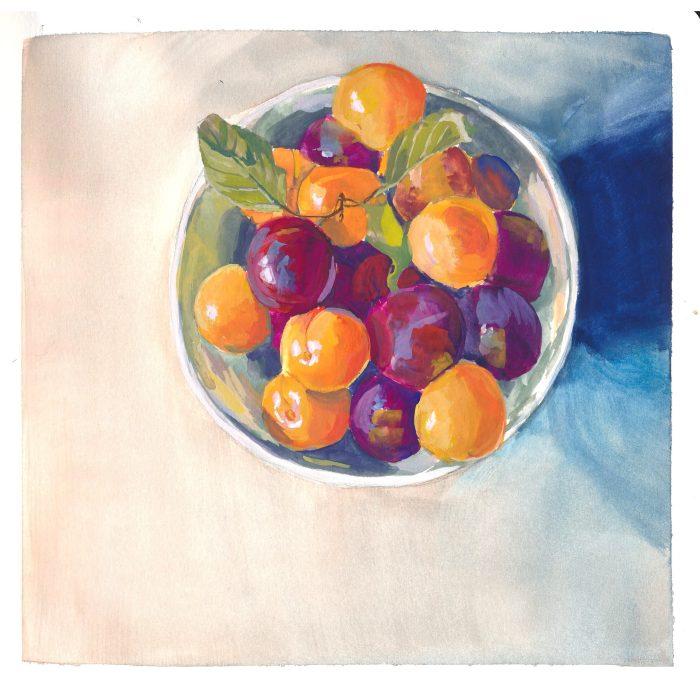 gouache prunes
