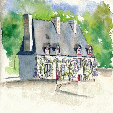 maison aquarelle