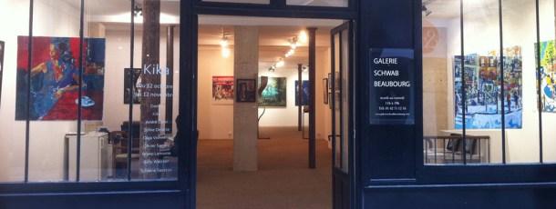 Exposition à la Galerie Schwab à Beaubourg