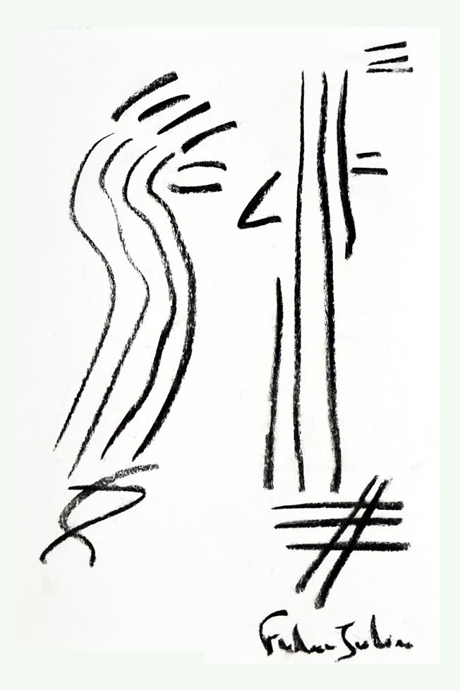 FREDERIC JULIEN-La droiture de l'homme-80X120 cm