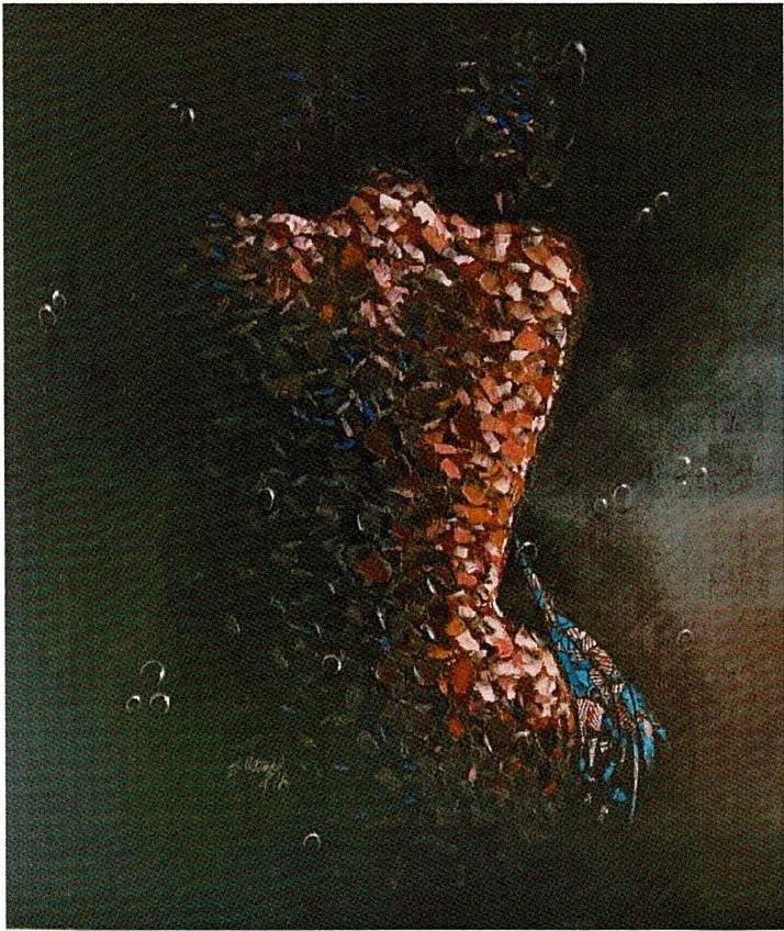 JONATHAN VATUNGA-Le repos-Mixte 100×110 cm