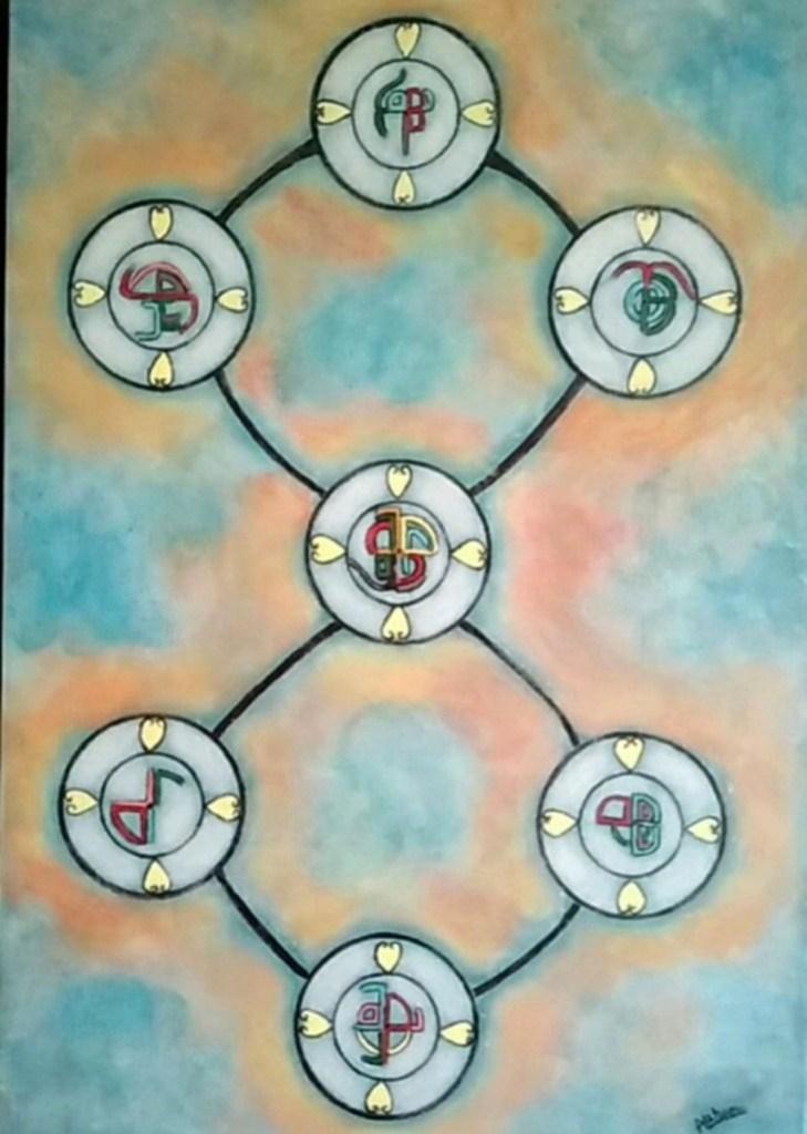 ATCHAMA Marie-Rose-Energie de la sagesse-Acrylique-50×73 cm