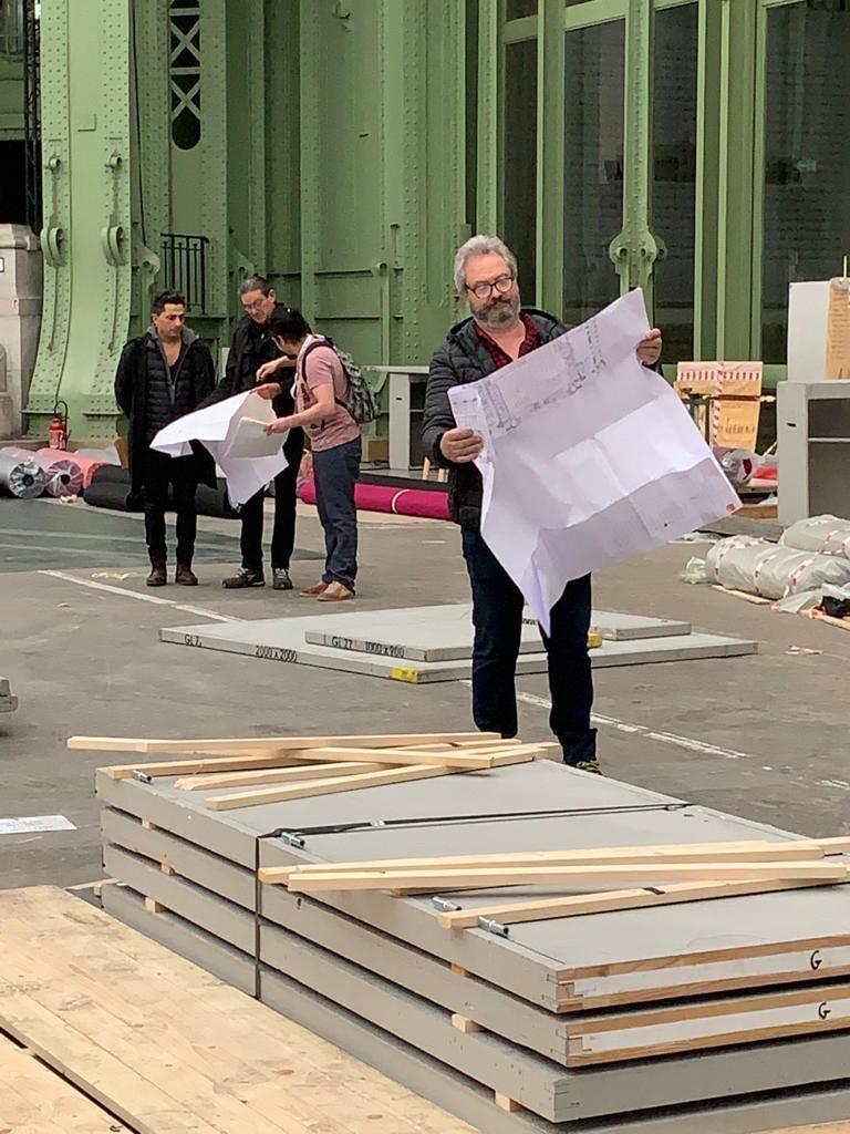 Préparation Art Capital 2020 Société des artistes Indépendants