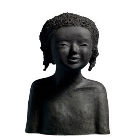 Fanny Pallaro, Sculpture en grès noir, série Tribu.