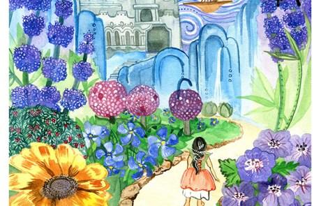 Into the Garden, Watercolor Illustration 2017