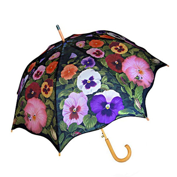 Pansy Floral Umbrella