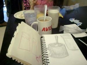 breakfast sketches 31DEC2011