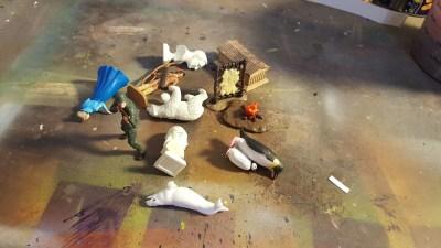 Image of small toys piled randomly
