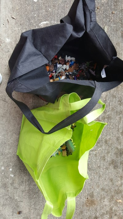 image of two canvas bags full of toobs