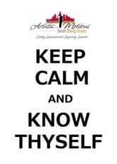 AM-Keep calm and Know Thyself - 2jpegs