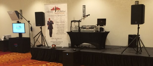 The AM Mobile DJ Setup and Fun Muggin' Media Photo Booth Kiosk - Ready for your next event!