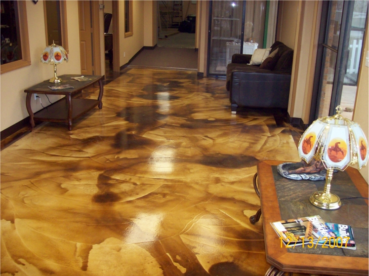 Concrete Acid Washed Floors