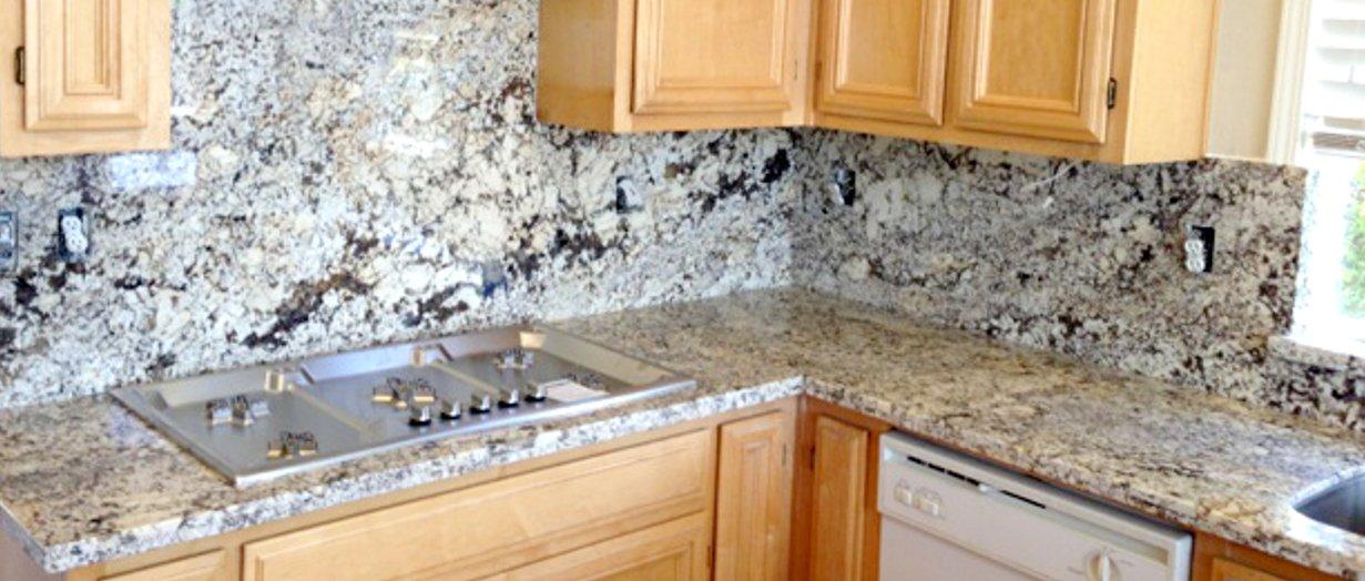 Granite & Tile Backsplashes-Artistic Stone Kitchen and Bath on Granite Stove Backsplash  id=97168