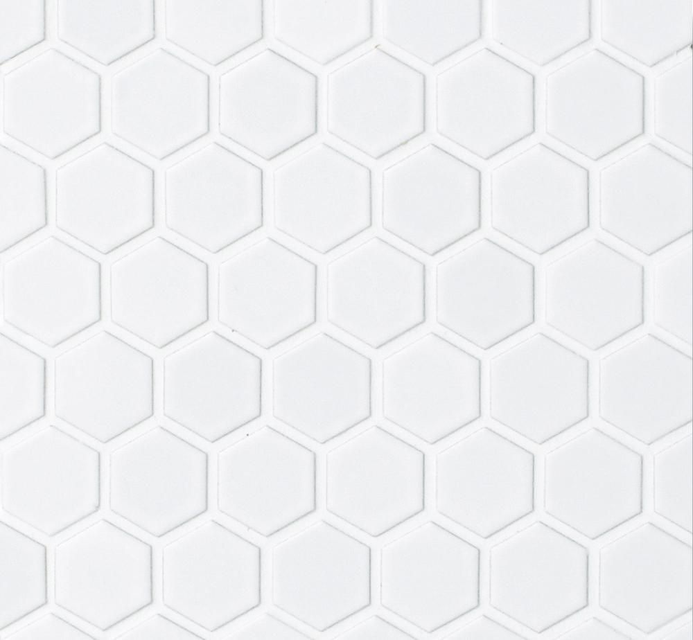 hexagon hex 1m matte white 1x1