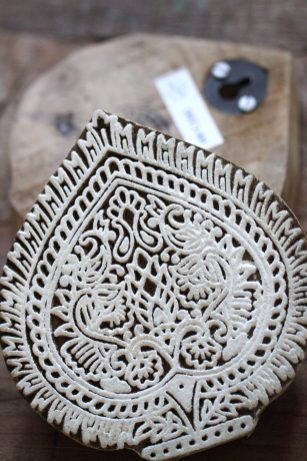 Blockprint ornament Blad