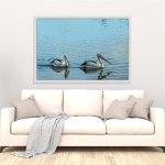 pelicans-water-canvas-art
