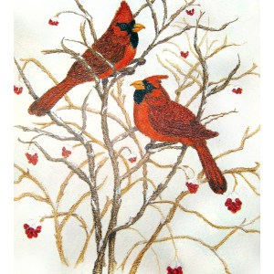 Winter Birds 8″x 10″