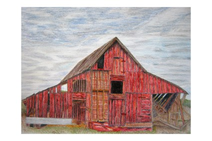 "The Old Barn 9""x 12"""