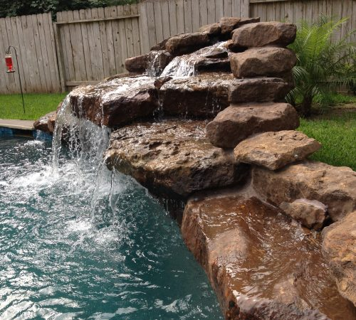 freeform pools water features