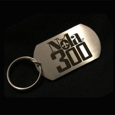 ss Nola 300 etched keychain