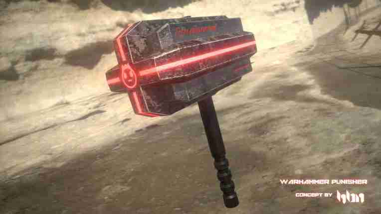 Heavy Blaze Night Warhammer punisher 3d model of warhammer hammer glowing red