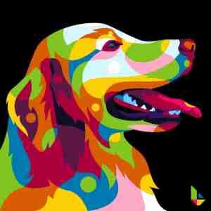 wpap and pop art labrador colorful dog Lintang Wicaksono
