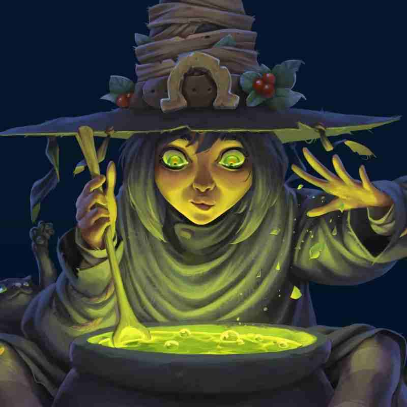 Roy Shtoyer Concept artist concept art green cooking witch pot painting