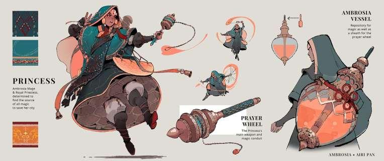 Ambrosia concept design art illustration honey magic princess