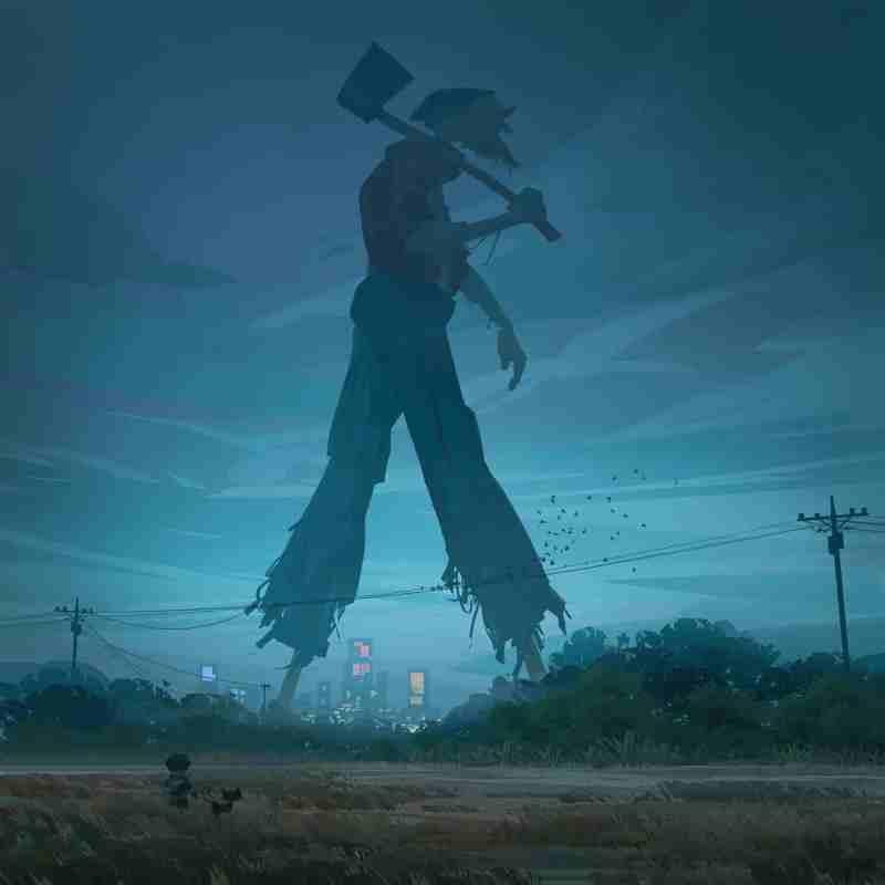 Yare Yue Walking giant concept art illustration