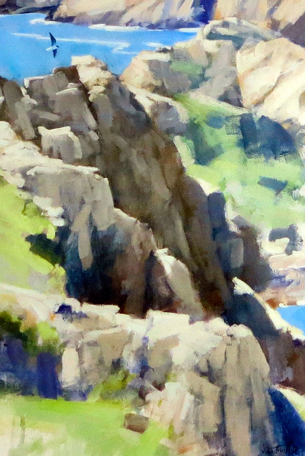 John Threlfall - Peregrine over the Gouliot Headland