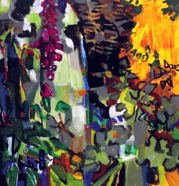 Matthew Underwood - Foxglove Gorse and Bluebells