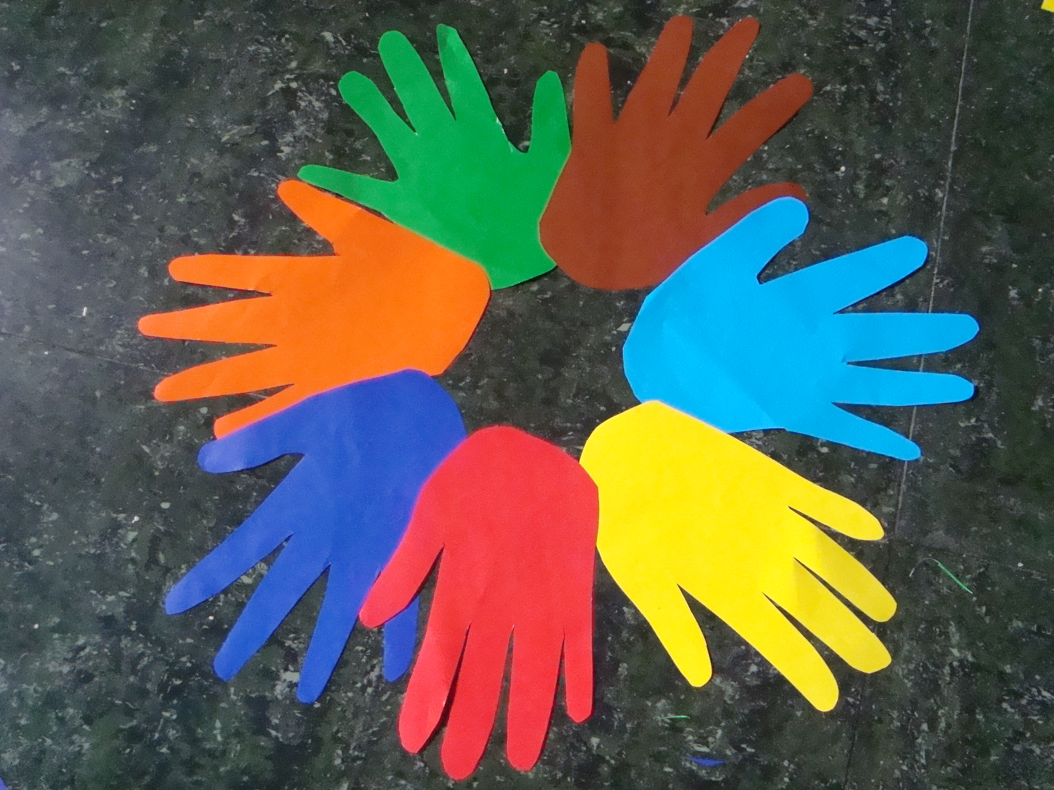 How To Make A Colored Hands Wreath For Martin Luther King
