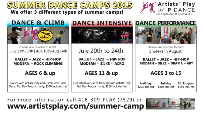 Summer Dance Camps 2015