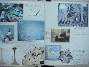 Example of Scavenger hunt for Principles of Art