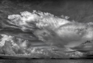 Clouds Over the Komodo Sea in Indonesia, by Tom Horton