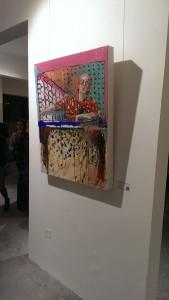 My favorite work of the exhibit, entitled Broken, by Jamal Abdul Rahim