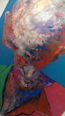 Close up of artwork by Jamal Abdul Rahim