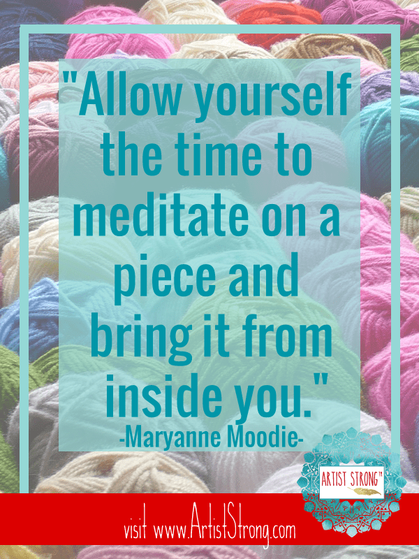 Creative Spirit Maryanne Moodie talks about her creative process, hosting workshops and all things warp and weft today on Artist Strong.