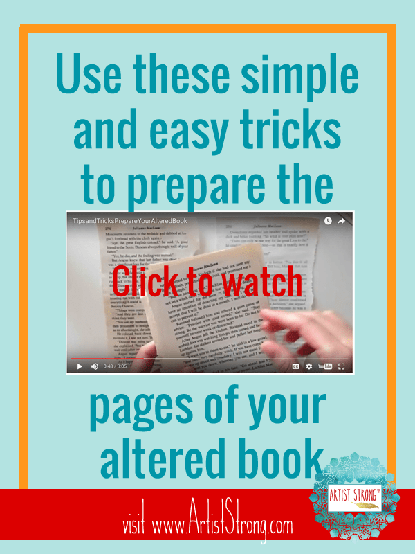 """""""Use these simple and easy tricks to prepare the pages of your altered book."""""""