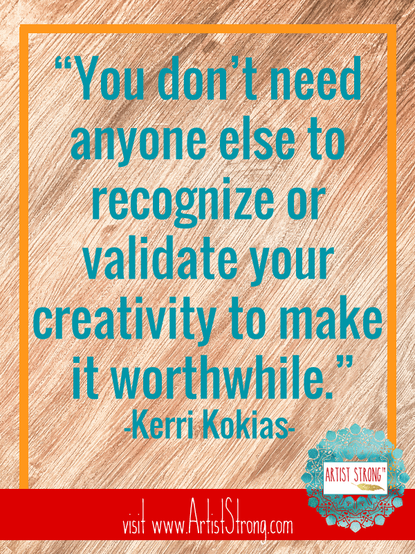 Discover embroidery on wood (?!) and enjoy an honest conversation about seeking validation in the arts. Meet Creative Spirit Kerri Kokias on Artist Strong: