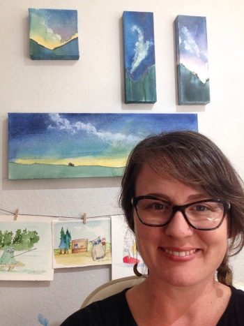 """""""There is a balance to the painting that comes forward...It's like talking to a friend about a passionate soul-bound goal."""" Meet Creative Spirit Elissa Nesheim."""