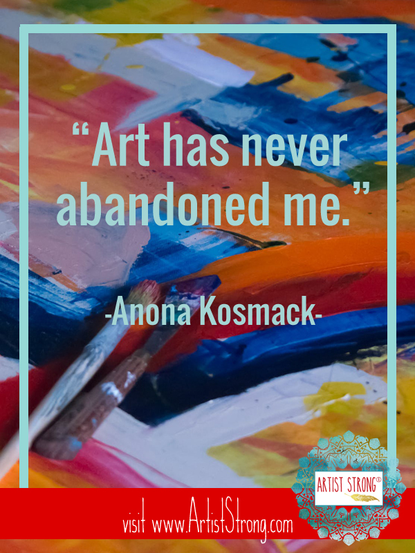 Anona Kosmack is the heart and lead creator of Art Fueled Living. She believes that your best life is full of self-expression, color, community and connection. Anona enriches the lives of those she works with by connecting them to their creative compass. #ottawaartist #mixedmedia #acrylic #artistquotes #creativityquotes #artiststrong