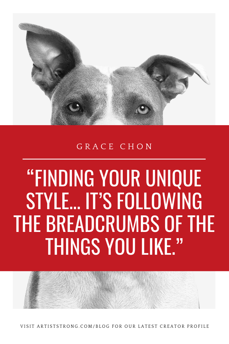 Grace Chon knows how to craft ideas that get noticed. She believes the key to life is tuning in deeply to what your natural gifts are and sharing them others. In this conversation we talk about: The misunderstanding our communities have over having a career in the arts; Why it took Grace so long to call herself an artist; and What you can do to build trust in yourself and your art. Watch here! #artiststrong #artistinterview #petphotographer #howtofindvoice #artiststyle #creativityquote