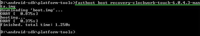 Boot CWM